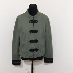 Lord & Taylor Green Military Style Jacket …